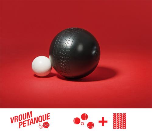Le Vroum Pétanque de l'exposition So French à l'Atelier Renault
