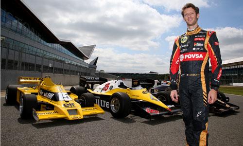 Romain Grosjean et les monoplaces moteurs turbo à Silverstone 2014